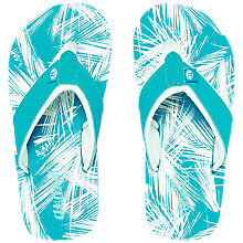 Buy Animal Children's Swish Palm Print Flip Flops, Blue Online at johnlewis.com
