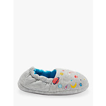 Buy John Lewis Baby Space Slippers, Grey Online at johnlewis.com
