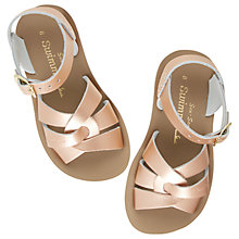 Buy Salt-Water Children's Swimmer Sandals, Rose Gold Online at johnlewis.com