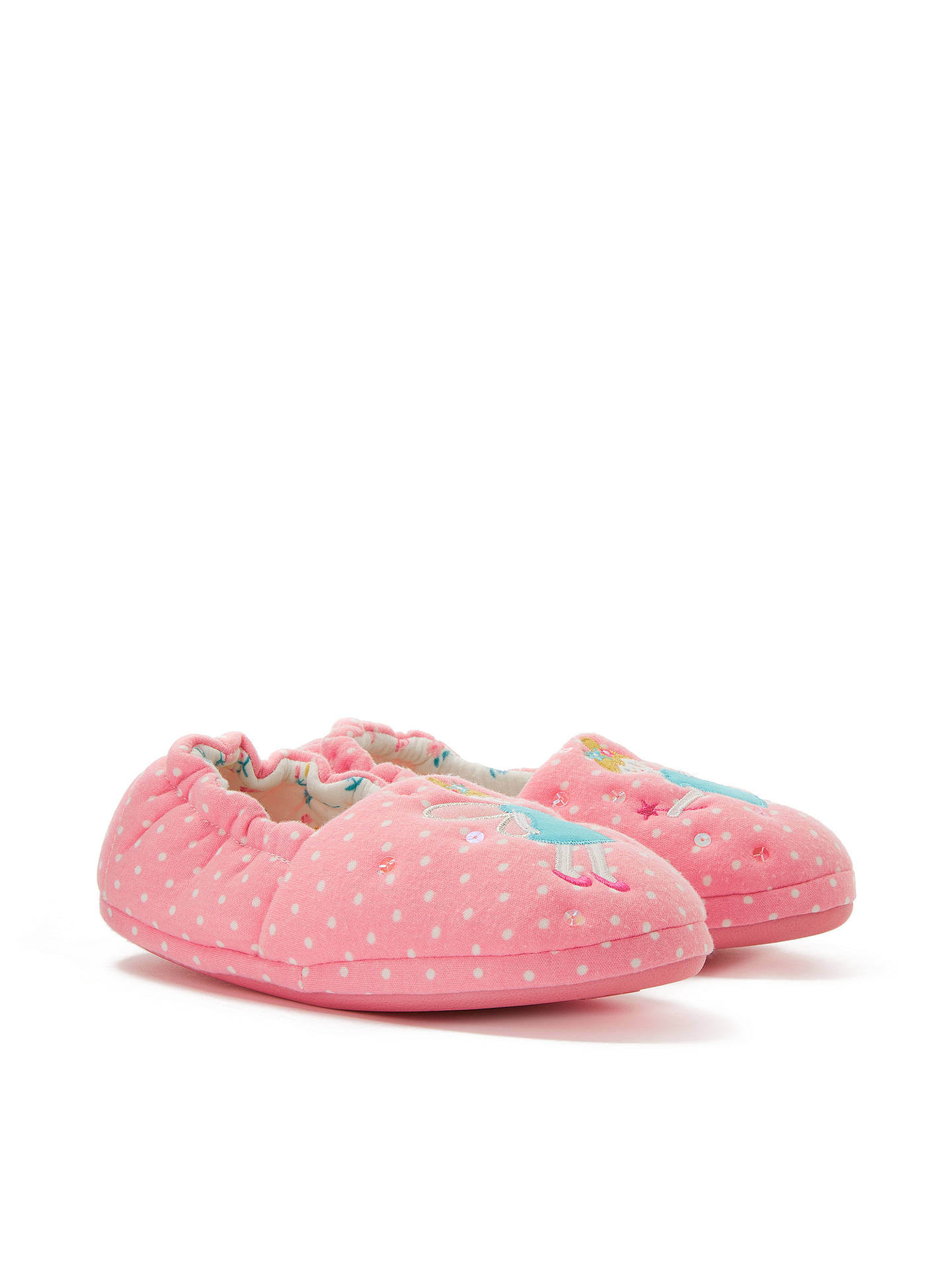 BuyJohn Lewis & Partners Children's Fairy Slippers, Pink, 6 Jnr Online at johnlewis.com