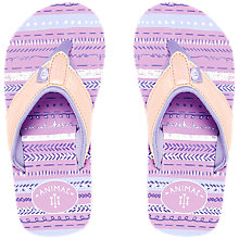 Buy Animal Children's Swish Glitz Flip Flops, Pink Online at johnlewis.com
