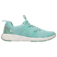 Buy Clarks Children's Gloforms Luminous Glo Trainers, Aqua Online at johnlewis.com