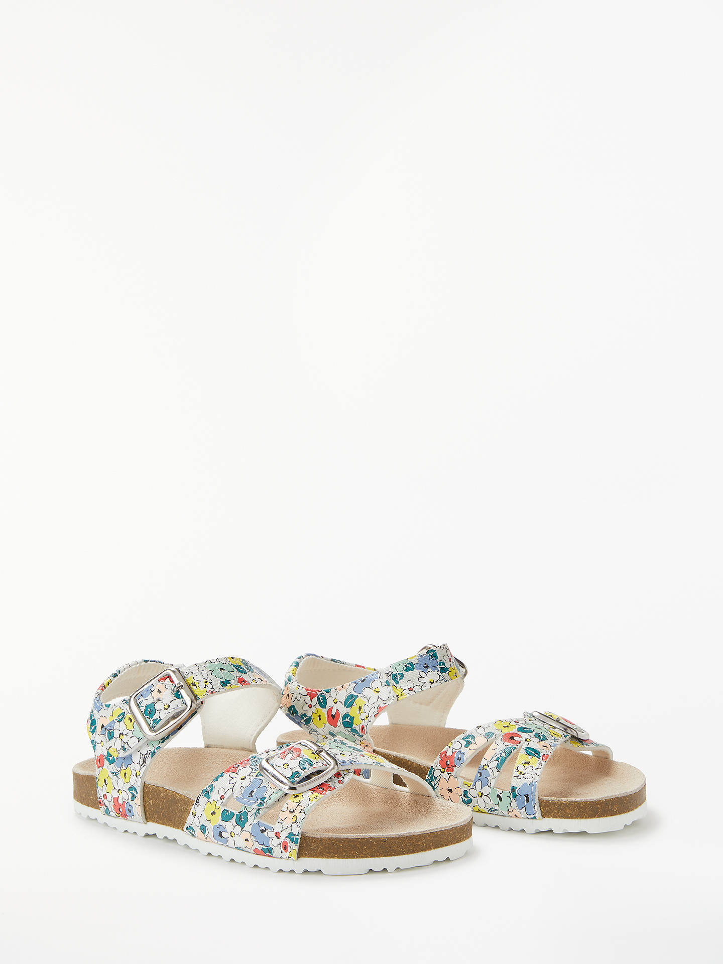 BuyJohn Lewis & Partners Children's Ava Floral Buckle Sandals, Multi, 6 Jnr Online at johnlewis.com