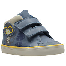 Buy Clarks Children's Jungle Rio First Shoes, Denim Blue Online at johnlewis.com