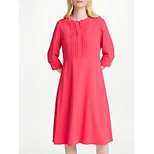 Buy John Lewis Pom Pom Trim Dress, Pink Online at johnlewis.com