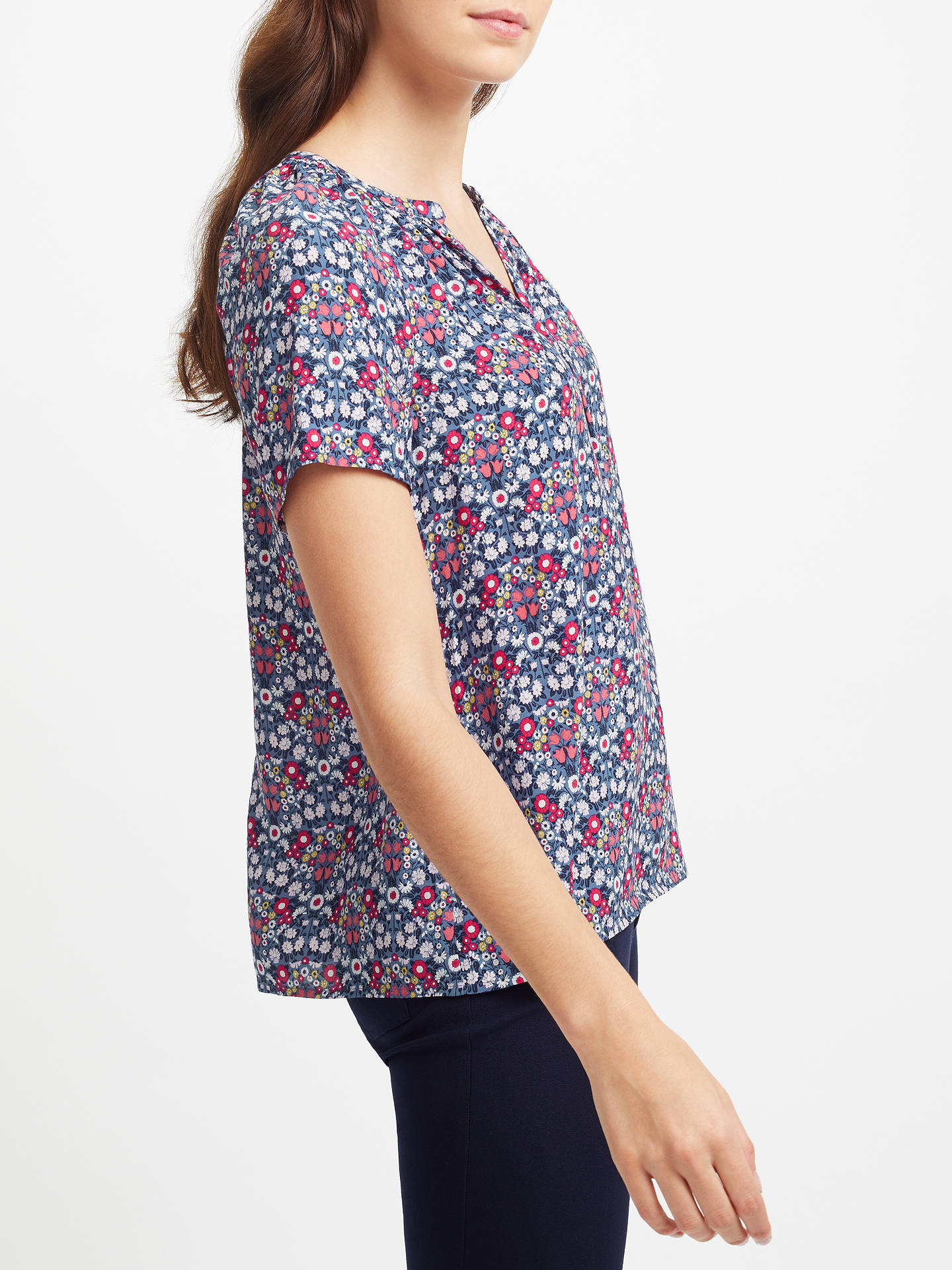BuyCollection WEEKEND by John Lewis Daisy Chain Top, Navy, 8 Online at johnlewis.com