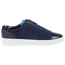 Buy Ted Baker Jeszie Zip Up Trainers, Navy Online at johnlewis.com
