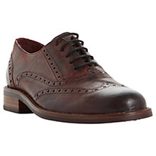 Buy Bertie Fielder Lace Up Brogues, Burgundy Online at johnlewis.com