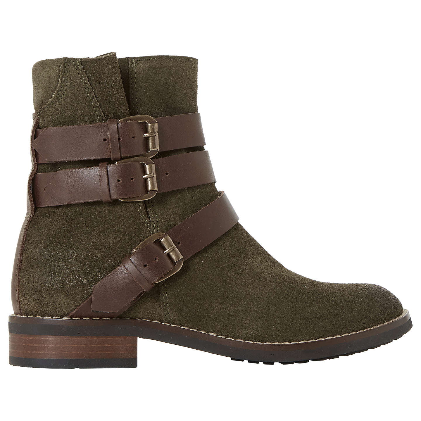 Outlet Fast Delivery Bertie Pennyford Buckle Ankle Boots Khaki Cheap ...