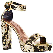 Buy Ted Baker Ornate Paisley Block Heel Sandals, Multi Online at johnlewis.com