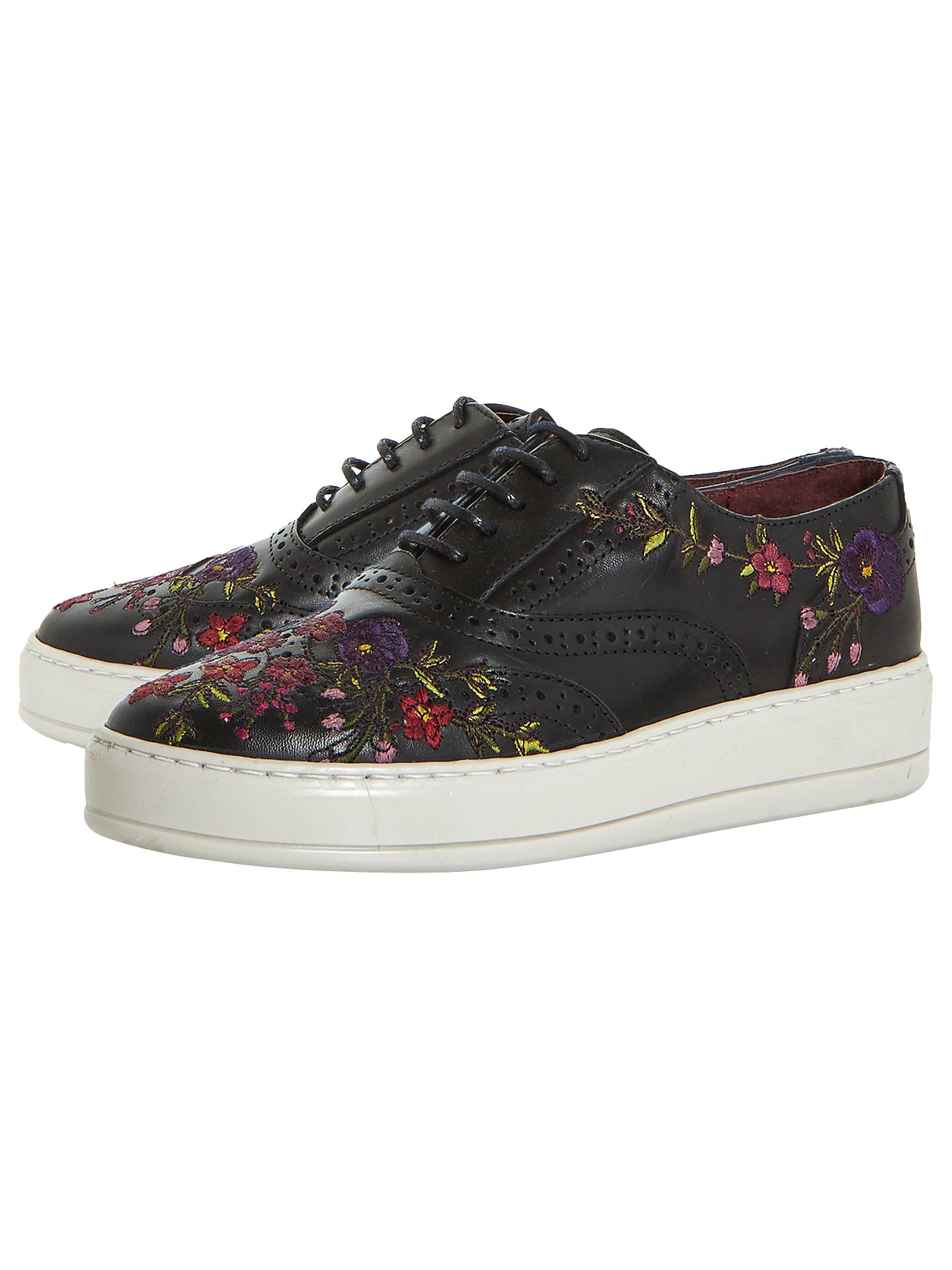 BuyBertie Eeden Embroidered Lace Up Trainers, Black, 3 Online at johnlewis.com