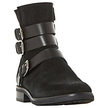 Buy Bertie Pennyford Buckle Ankle Boots, Black Online at johnlewis.com