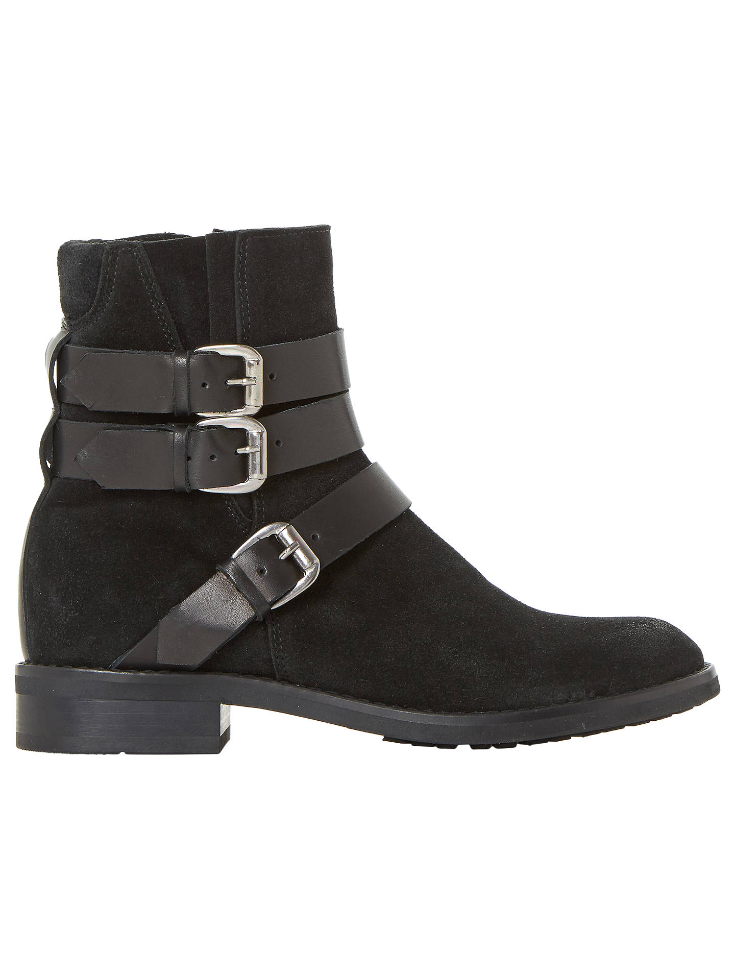 BuyBertie Pennyford Buckle Ankle Boots, Black, 3 Online at johnlewis.com