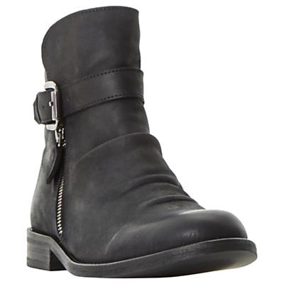 Bertie Penbury Buckle Ankle Boots, Black