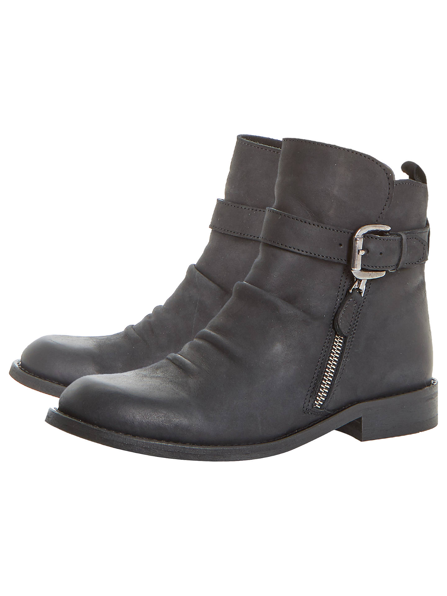 BuyBertie Penbury Buckle Ankle Boots, Black, 3 Online at johnlewis.com