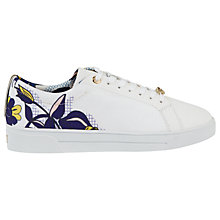 Buy Ted Baker Pehrie Floral Lace Up Trainers, Multi Online at johnlewis.com