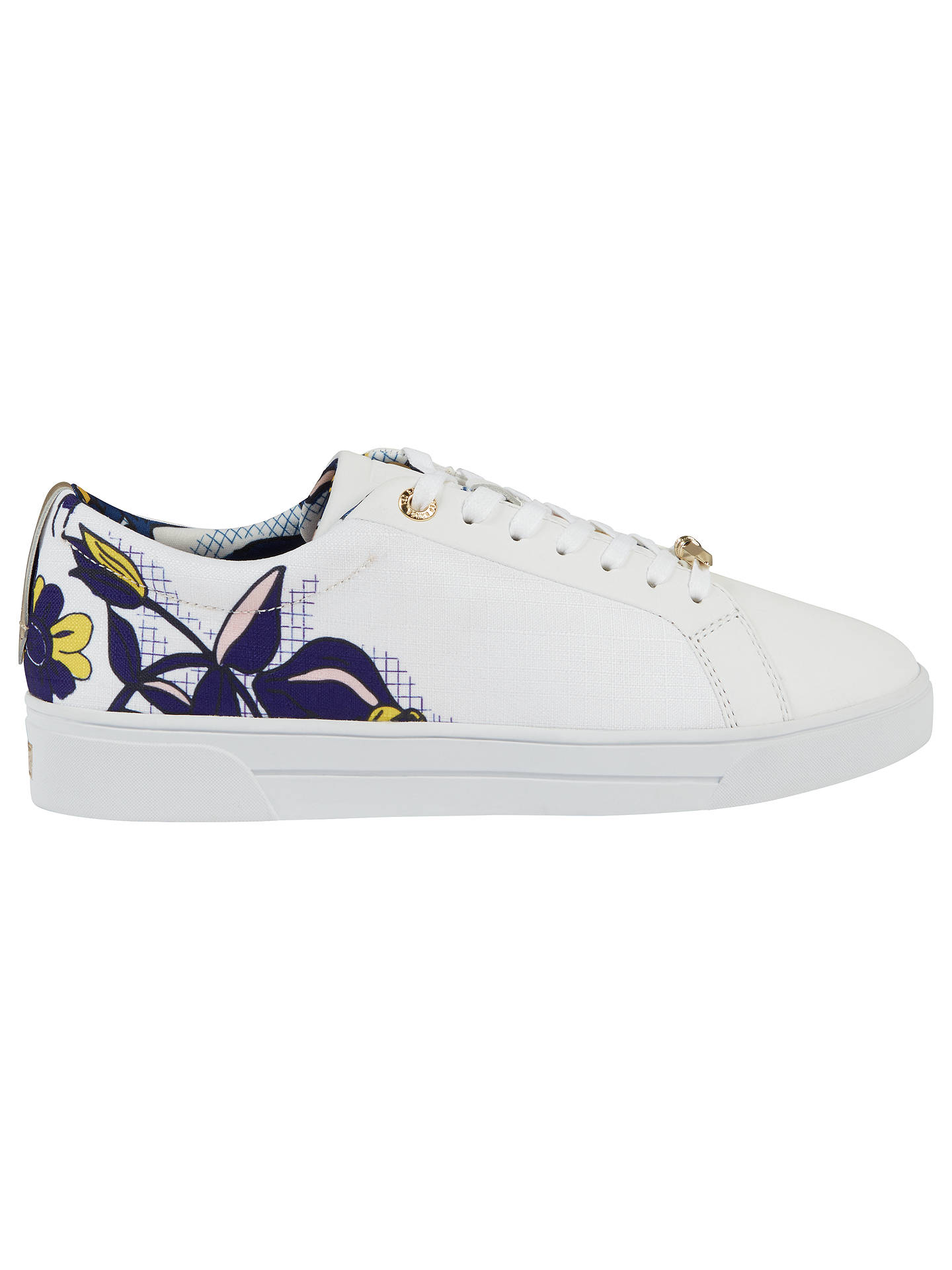 3ec5c53ef Buy Ted Baker Pehrie Floral Lace Up Trainers, Multi, 4 Online at johnlewis.