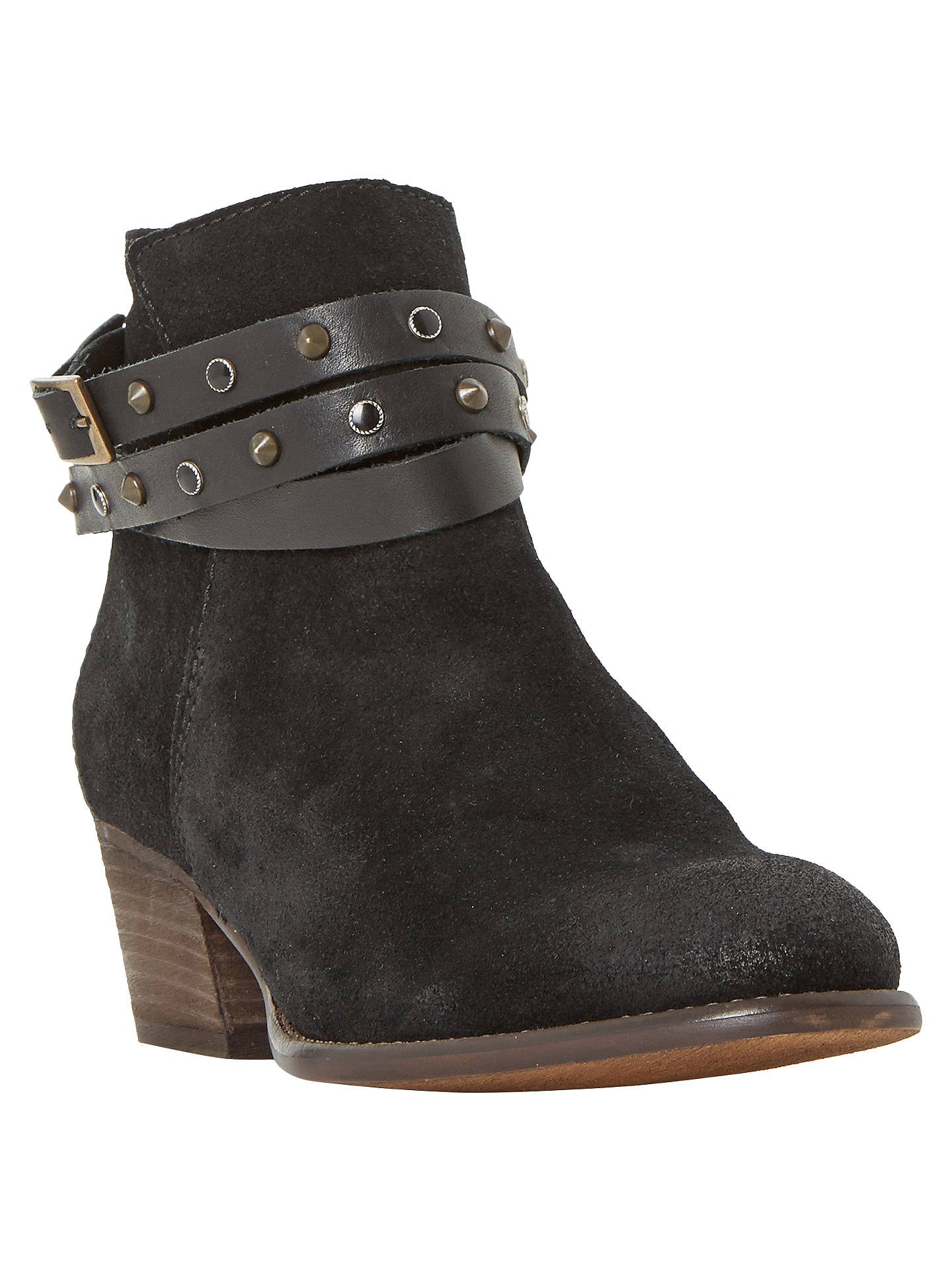 BuyBertie Prynceton Block Heeled Ankle Boots, Black, 3 Online at johnlewis.com