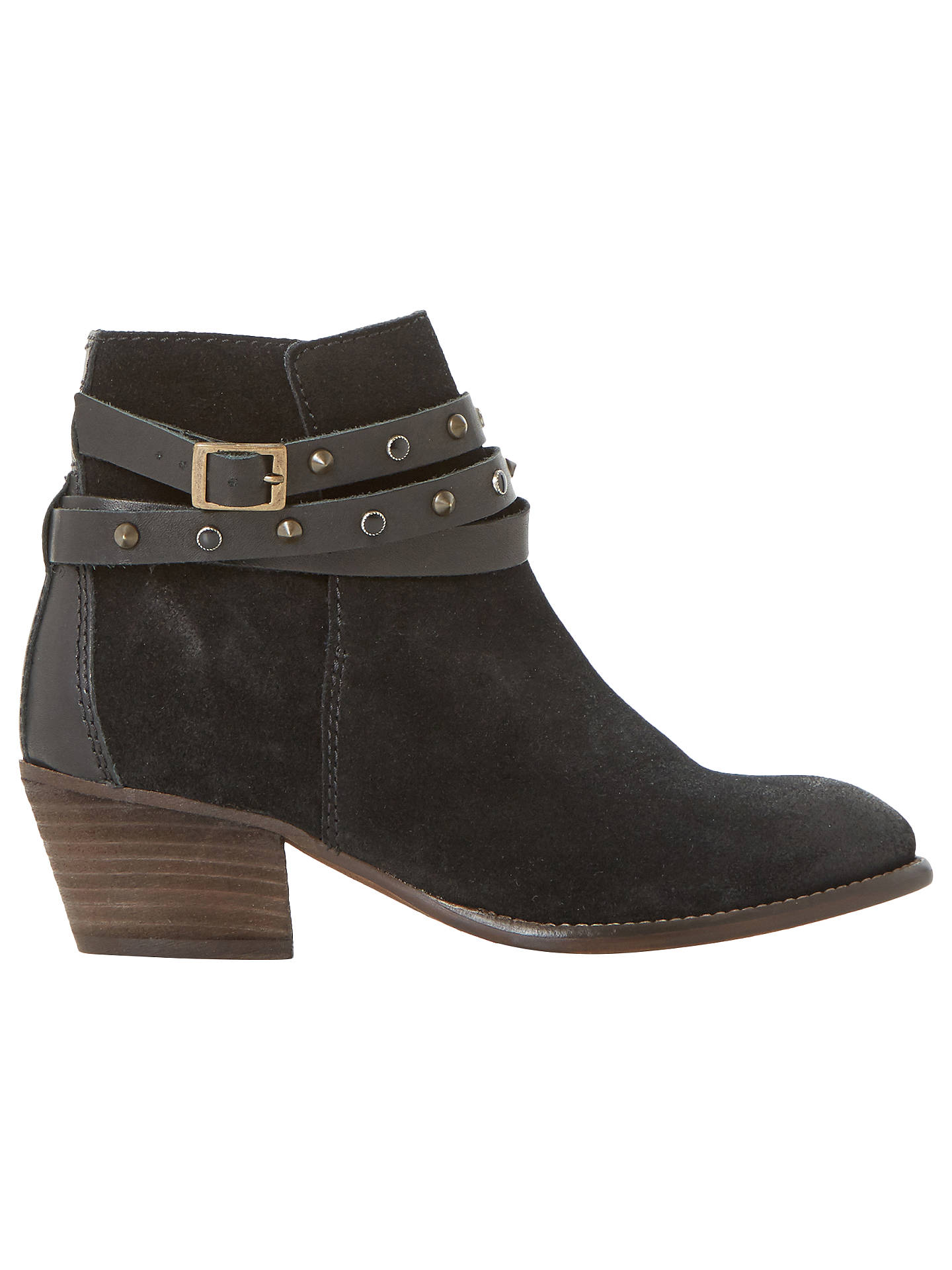 Buy Bertie Prynceton Block Heeled Ankle Boots, Black, 3 Online at johnlewis.com
