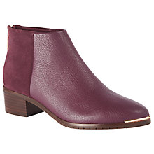 Buy Ted Baker Sasybell Faux Fur Lined Block Heel Ankle Boots Online at johnlewis.com