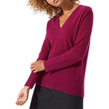 Buy Jigsaw Nikita Cashmere V-Neck Jumper Online at johnlewis.com