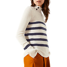Buy Jigsaw Cashmere Henriksen Striped Jumper Online at johnlewis.com