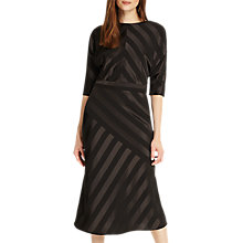 Buy Phase Eight Avaline Tie Midi Flared Dress, Black Online at johnlewis.com