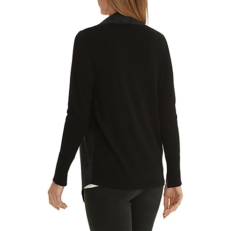 Buy Betty Barclay Faux Suede Leather Trim Jacket, Black Online at johnlewis.com