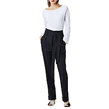 Buy Finery Turnill Tie Waist Trousers, Black Online at johnlewis.com