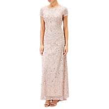 Buy Adrianna Papell Petite Scoop Back Sequin Evening Dress, Blush Online at johnlewis.com
