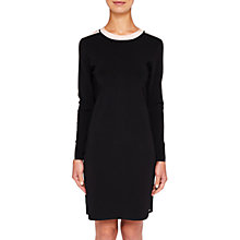 Buy Ted Baker Palit Knitted Striped Dress, Black/Cream Online at johnlewis.com