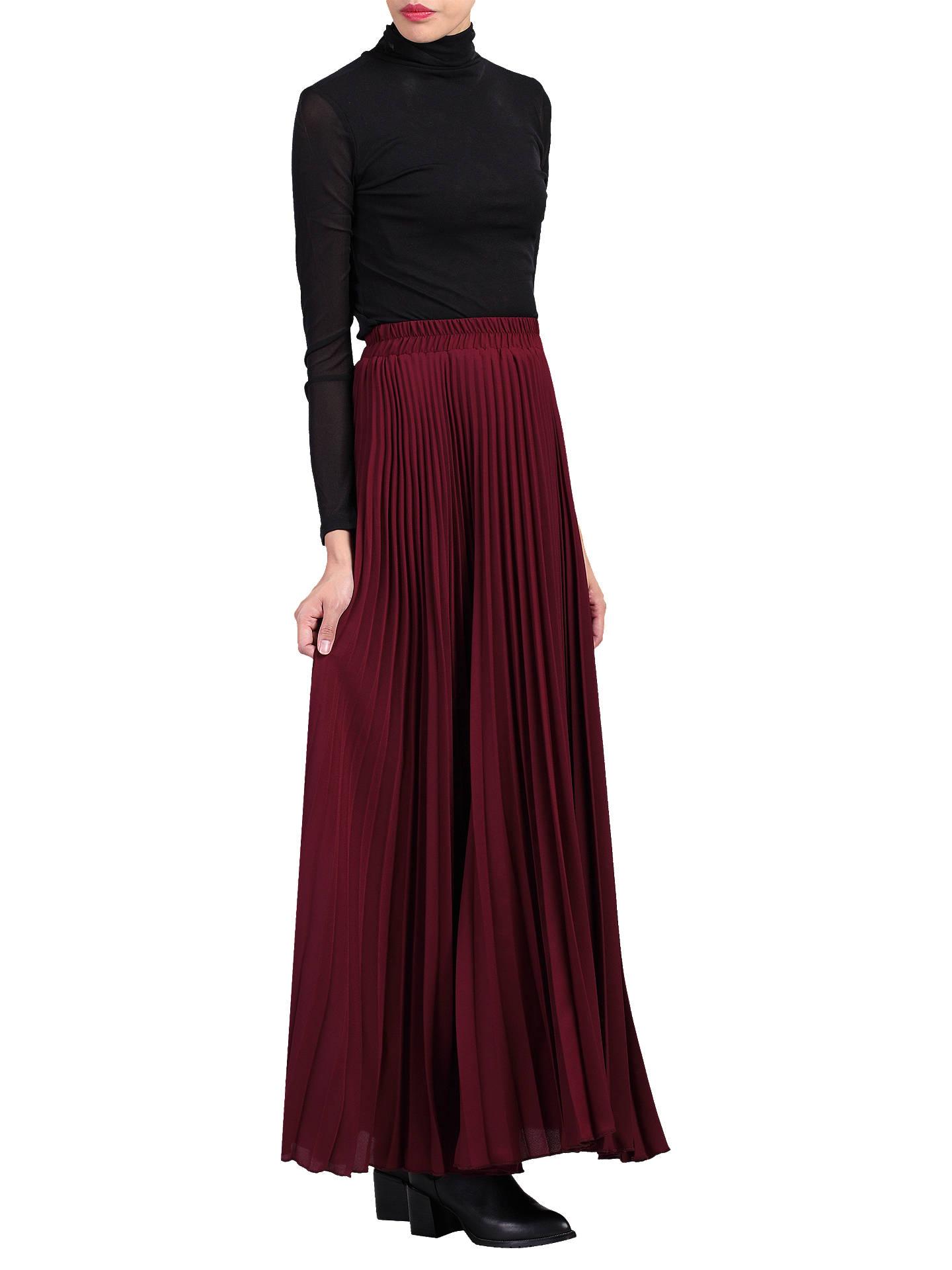 8b405ba061 ... Buy Jolie Moi Pleated Crepe Maxi Skirt, Burgundy, 8 Online at  johnlewis.com ...