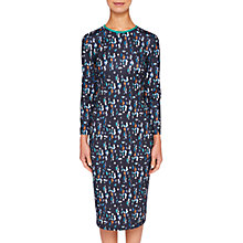 Buy Ted Baker Kielder Print Dress, Navy/Multi Online at johnlewis.com
