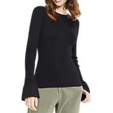 Buy Oasis Ribbed Fluted Sleeve Jumper Online at johnlewis.com
