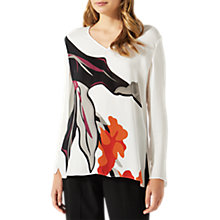 Buy Jigsaw Northern Bloom Long Sleeve Blouse, Ivory Online at johnlewis.com