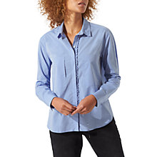 Buy Jigsaw Slim Shirt, Blue Online at johnlewis.com
