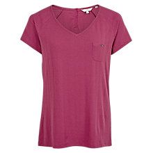 Buy Fat Face Skye V-Neck T-Shirt, Plum Online at johnlewis.com