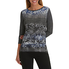 Buy Betty Barclay Graphic Print Top, Black/Blue Online at johnlewis.com