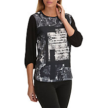 Buy Betty Barclay Graphic Floral Print Top, Black/Cream Online at johnlewis.com