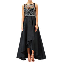 Buy Adrianna Papell Beaded Fit And Flare Gown, Black Online at johnlewis.com