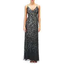 Buy Adrianna Papell Sequin Evening Dress, Black Online at johnlewis.com