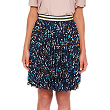 Buy Ted Baker Colour By Numbers Motrie Lamp Printed Skirt, Navy/Multi Online at johnlewis.com