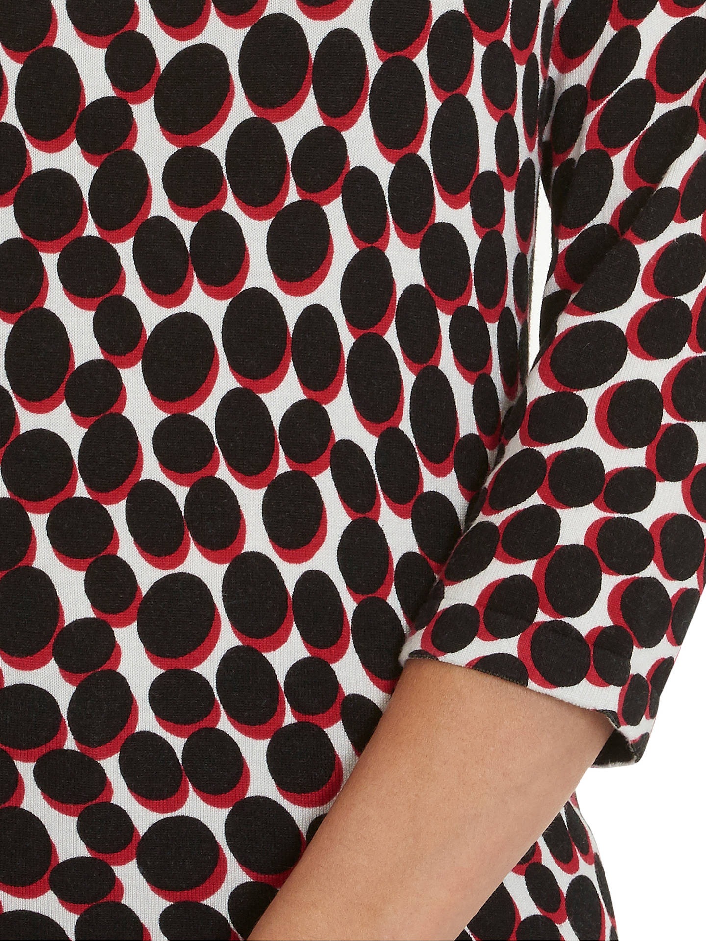 BuyBetty Barclay Dot Print Jumper, Black/Red, 8 Online at johnlewis.com