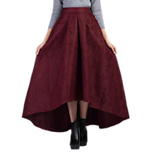 Buy Jolie Moi High Low Hem Prom Skirt, Burgundy Online at johnlewis.com