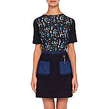 Buy Ted Baker Colour By Numbers Eudon Lamp Print Relaxed T-Shirt, Navy/Multi Online at johnlewis.com