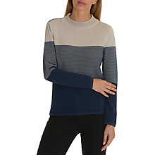 Buy Betty Barclay Colour Block Ribbed Jumper, Dark Blue/Beige Online at johnlewis.com