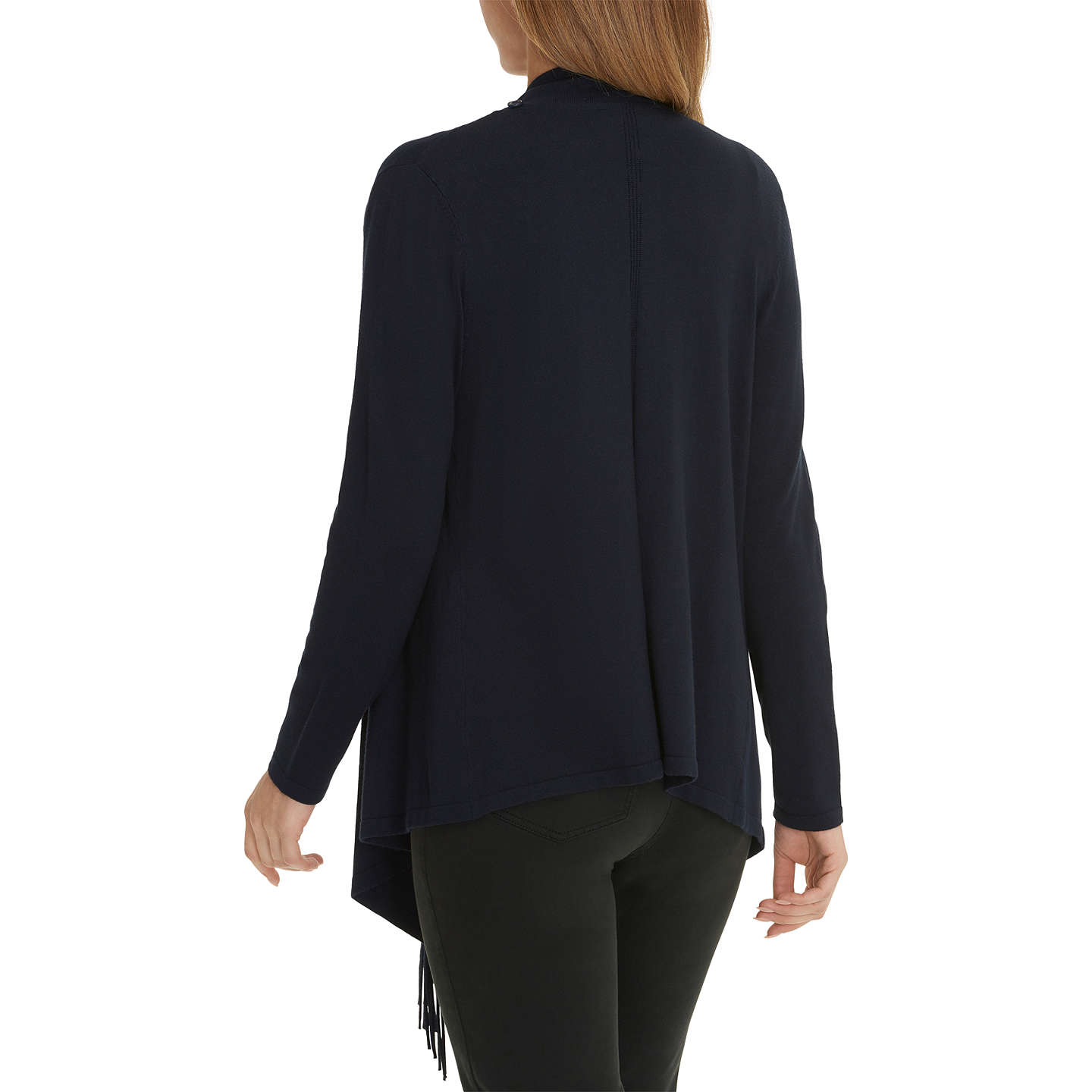 BuyBetty Barclay Tasselled Cardigan, Dark Sky, 10 Online at johnlewis.com