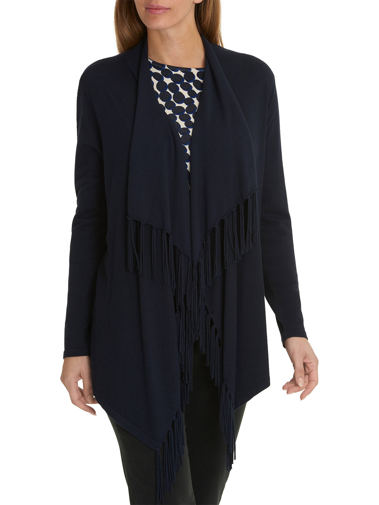 BuyBetty Barclay Tasselled Cardigan, Dark Sky, 8 Online at johnlewis.com