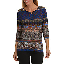 Buy Betty Barclay Paisley Print Top, Dark Blue/Brown Online at johnlewis.com