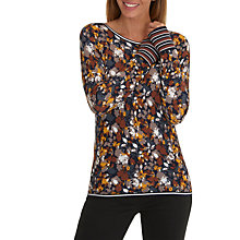 Buy Betty Barclay Floral Print Jumper, Navy/Autumn Online at johnlewis.com